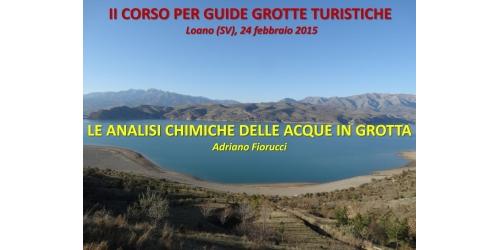 Analisi cliniche acque in grotta - Adriano Fiorucci