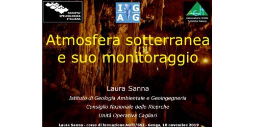 Atmosfera sotterranea e suo monitoraggio - Laura Sanna