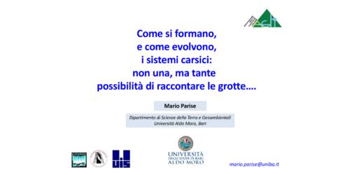 Come si formano i sistemi carsici - Mario Parise