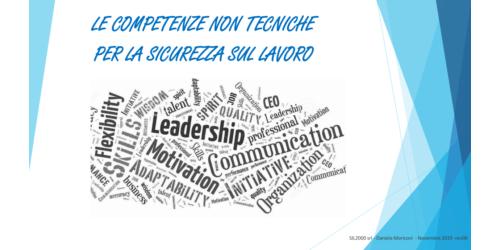 Le competenze non tecniche per la sicurezza sul lavoro - Daniela Moiconi