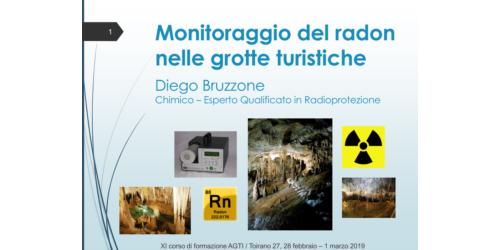 Monitoraggio del radon nelle grotte turistiche - Diego Bruzzone