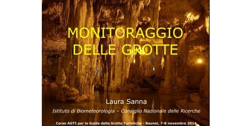Monitoraggio delle grotte - Laura Sanna