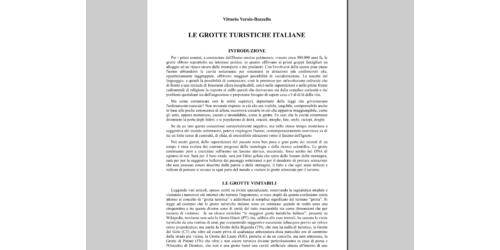 Le Grotte turistiche Italiane - Vittorio Verole Bozzello
