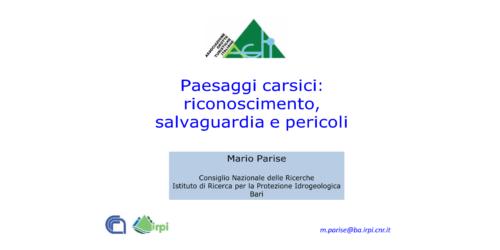 Paesaggi Carsici - Mario Parise